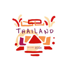 Time to travel to thailand travel agency logo vector