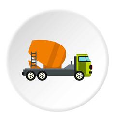 Truck mixer icon circle vector