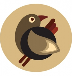 vintage bird design vector image