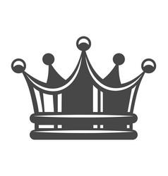 Vintage royal crown concept vector