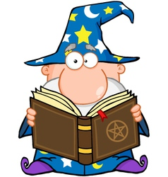 Wizard Holding A Magic Book vector image