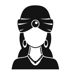 woman fortune teller icon simple style vector image
