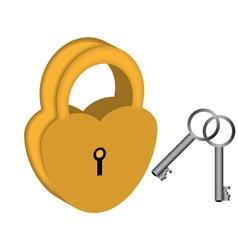 Yellow padlock vector