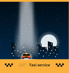 city taxi vector image