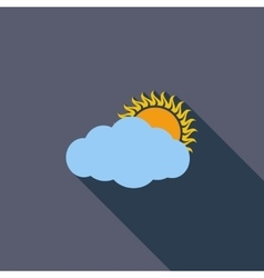 Cloudiness single icon vector image vector image