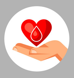 donate blood medical and healthcare concept with vector image