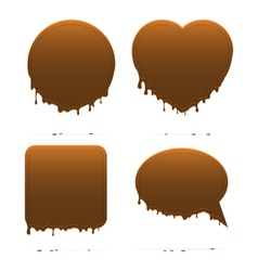 Dripping chocolate shapes vector image vector image