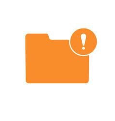alert error folder note notice warning icon vector image