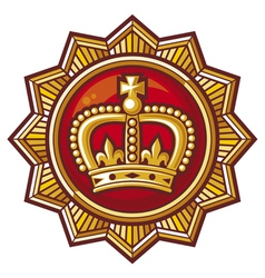 crown badge vector image vector image
