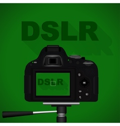 DSLR camera vector image