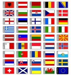 flags Europe vector image