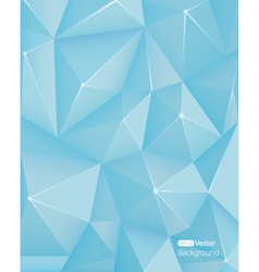 Abstract light blue triangle background vector image vector image