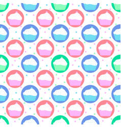 colorful pattern of cakes vector image vector image