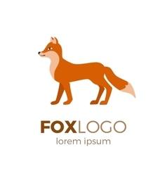 Flat fox logo vector image vector image