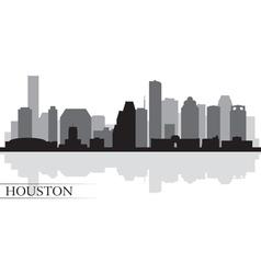Houston city skyline silhouette background vector image vector image