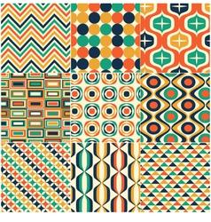 seamless retro pattern print vector image vector image
