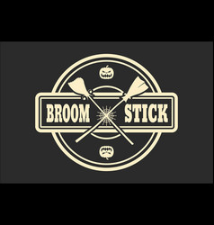 stamp with broomstikc text vector image