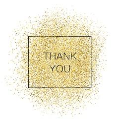 Thank You Gold Inscription vector image vector image