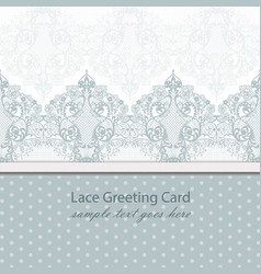 vintage lace background with handmade vector image vector image