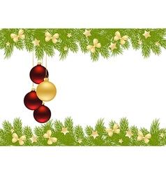 christmas pine frame 1409 02 vector image
