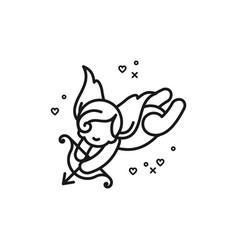 cupid icon love symbol wedding and valentines vector image