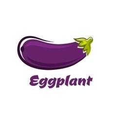 Fresh dark violet eggplant vegetable vector image vector image