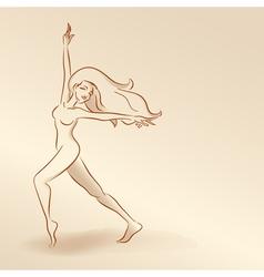 Silhouettes of woman in pastel tones2 5nov vector image