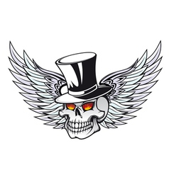 skull with wings vector image vector image
