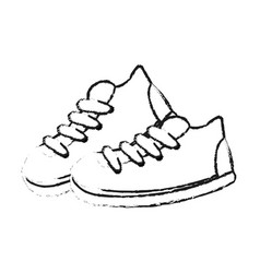 sneaker shoes icon image vector image