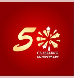 50 year celebrating anniversary template design vector