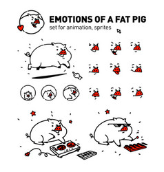 a cartoon pig flat outline style for true vector image