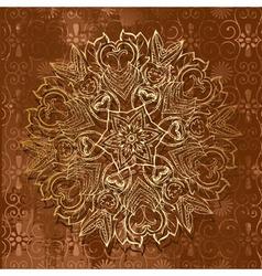 abstract arabeska retro vector image