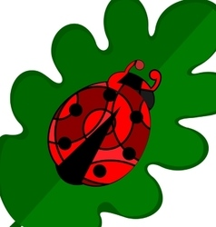 abstract large ladybug vector image