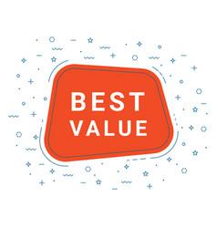 Best value speech bubble banner sign design vector
