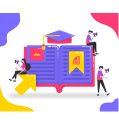 book for education students who study between vector image