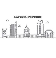 California sacramento architecture line skylin vector