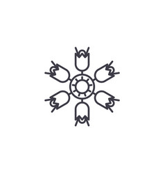 campanula line icon concept campanula flat vector image
