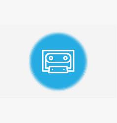 cassette icon sign symbol vector image