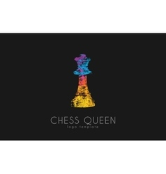 Chess queen logo Queen logo Chess logo Creative vector