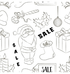 Christmas sale set pattern vector