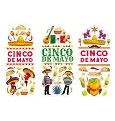 cinco de mayo mexican holiday banners vector image
