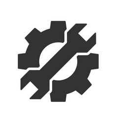 Cogwheel with wrench icon vector