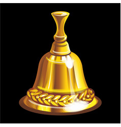 Collection mascots golden bell vector