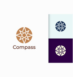 Compass logo in modern and abstract shape vector