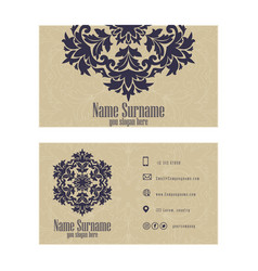 Corporate business or visiting card professional vector