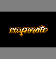 Corporate word text banner postcard logo icon vector
