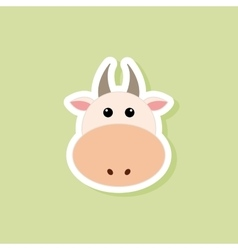 cute cow face vector image