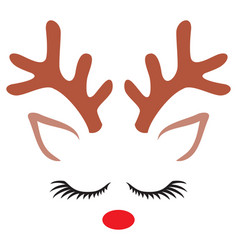 cute reindeer- christmas design vector image