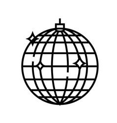 disco ball line icon concept sign outline vector image
