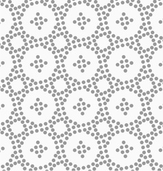 Dotted circles and small crosses vector